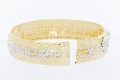 14 karaat bicolor gouden -Versace style- armband GERESERVEERD