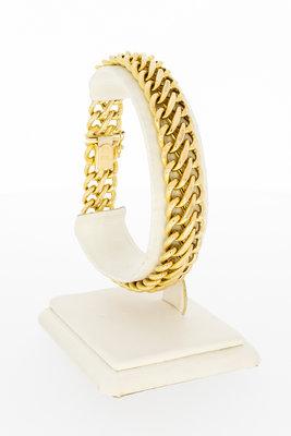 14 Karaat gouden dubbele Gourmet schakelarmband - 20,5 cm