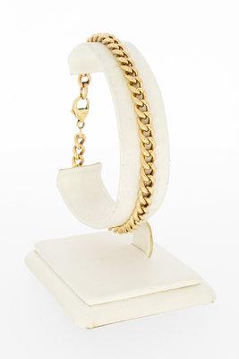 """14 Karaat geelgouden """"Open"""" Gourmet armband - 20,5 cm"""