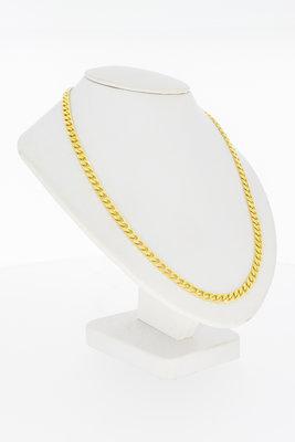 14 Karaat gouden Gourmet schakelketting - 60 cm