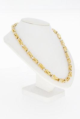 14 Karaat Bicolor gouden Koningsketting - 63 cm