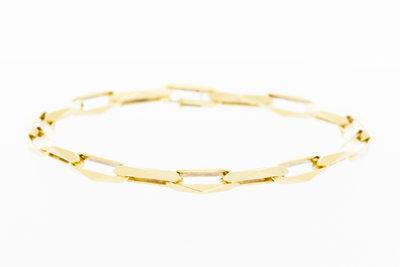14 karaat geel gouden Closed Forever Armband - 21 cm