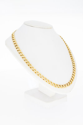 14 Karaat gouden gewalste & geslepen Gourmet ketting-60cm