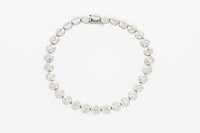 18 Karaat witgouden Tennis Bracelet met Diamant - 18,5 cm