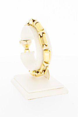 "18 karaat bicolor gouden ""Baraka"" schakelarmband - 20,5 cm"