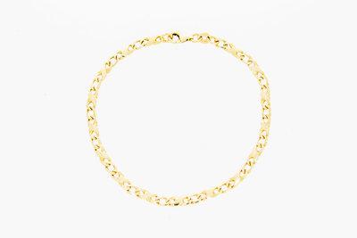 14 karaat geelgouden Gourmet Infinity armband - 19,5 cm