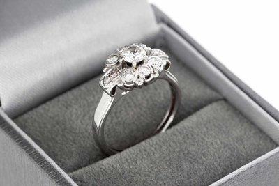 18 karaat witgouden Entourage ring met Diamant (0.76 crt)