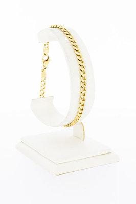 14 karaat gouden Gourmet Armband met Diamant- 21,7 cm