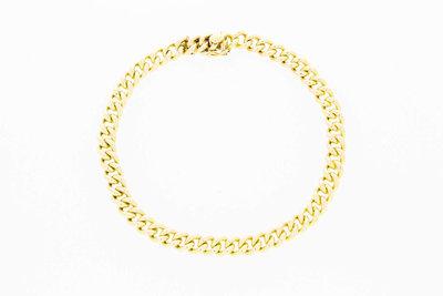 """14 Karaat geelgouden """"Open"""" Gourmet armband - 19,8 cm"""