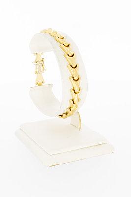 """14 Karaat geel gouden """"Y"""" schakelarmband - 18,5 cm"""