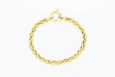 18 karaat geelgouden Vossenstaart schakel armband- 20,2 cm