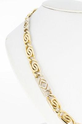 14 Karaat bicolor gouden Rolex schakelketting - 62,5 cm