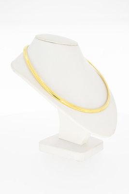 18 Karaat gouden oplopende OMEGA schakel Collier- 43 cm