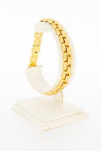 18 Karaat gouden Y vormige schakelarmband - 20 cm