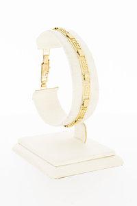 14 Karaat gouden -Versace style- schakelarmband-18,6 cm