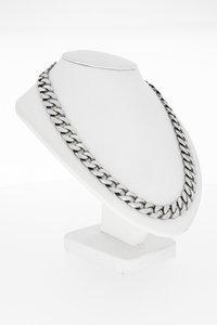 Zilveren (9251000) grove Gourmet schakelketting - 50 cm