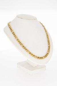 14 Karaat gouden Figaro schakel Collier - 45,5 cm