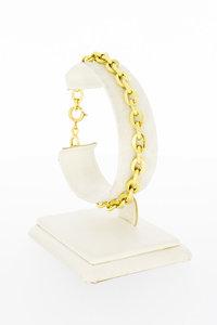 18 Karaat geel gouden Anker schakelarmband - 20 cm