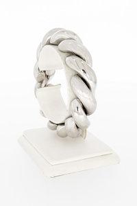 18 Karaat wit gouden San Marco schakelarmband-20 cm