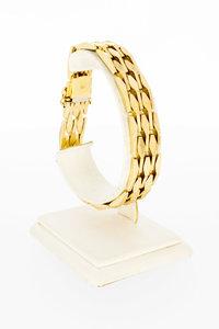 14 Karaat geel gouden Wiebertjes schakelarmband - 20 cm