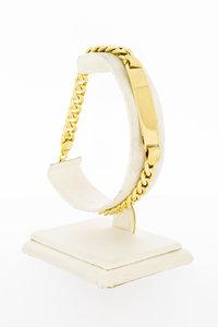 14 Karaat geel gouden Gourmet Plaat armband - 21,6 cm