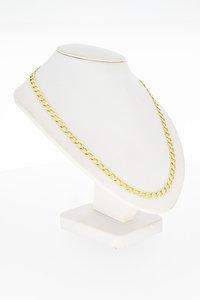 14 Karaat gouden Open Gourmet schakelketting - 64,5 cm