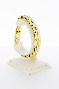 14 Karaat geel gouden Tank schakelarmband - 20,8 cm