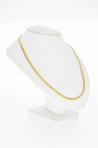 14 Karaat geel gouden Gourmet schakelketting - 52,5 cm
