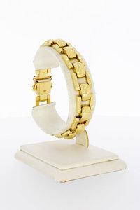 14 Karaat gouden armband Bolletje-Staafje  - 19 cm