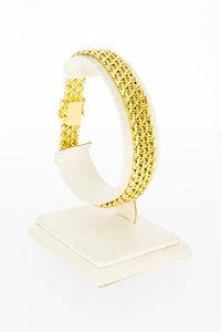 14 Karaat gouden gevlochten schakelarmband - 19,8 cm