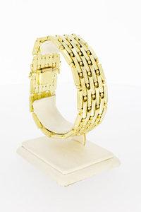 14 Karaat gouden brede Kegel schakelarmband - 19,3 cm