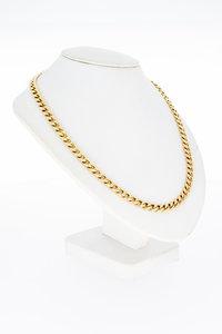 14 Karaat gouden open Gourmet schakelketting - 52 cm