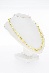 18 Karaat gouden grove Venetiaanse schakelketting - 65 cm