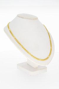 14 Karaat gouden open Gourmet schakelketting - 64,3 cm
