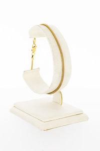 14 Karaat geel gouden Slangen schakelarmband - 19,5 cm