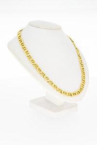 14 Karaat geel gouden Gucci schakel ketting - 56 cm