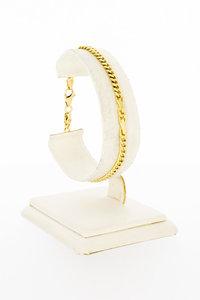14 Karaat gouden Gourmet Infinity schakelarmband- 19 cm