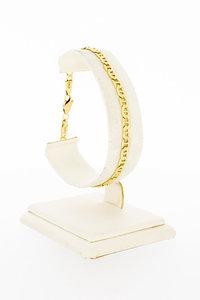 14 Karaat geel gouden Gucci style schakelarmband- 20 cm