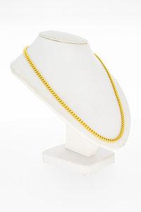 14 Karaat geelgouden Gourmet schakel Collier - 45 cm