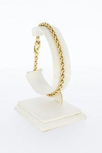 14 Karaat geel gouden Vossenstaart schakelarmband-21 cm