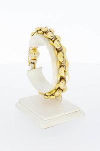 18 Karaat bicolor gouden Baraka schakel armband - 21 cm