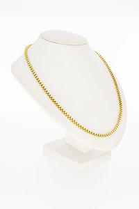 18 Karaat geel gouden Venetiaanse schakelketting - 89 cm
