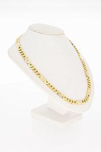 14 Karaat geel gouden Gourmet schakelketting - 52 cm