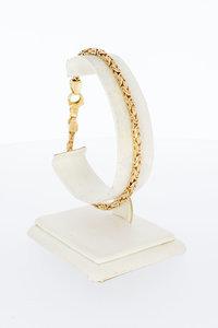 14 Karaat gouden Byzantijnse schakelarmband - 21,3 cm