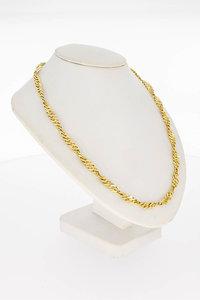 14 Karaat gouden getwiste geslepen Gourmet Collier-40 cm