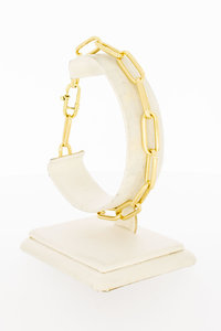 14 Karaat geel gouden Closed for Ever armband - 22 cm