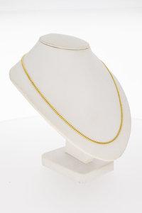 14 Karaat geel gouden Gourmet schakel Collier - 38 cm
