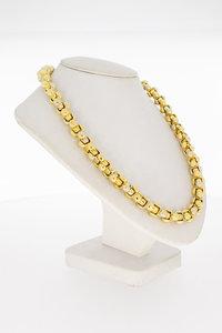 18 Karaat bicolor gouden Baraka schakel Collier - 45 cm