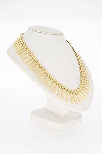 14 Karaat gouden Zonnestraal Staafjes Collier - 48,8 cm