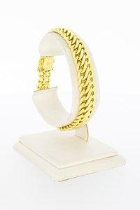 18 Karaat geel gouden gevlochten schakelarmband - 19 cm
